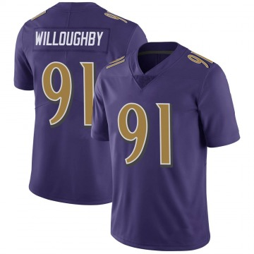 Youth Nike Baltimore Ravens Marcus Willoughby Purple Color Rush Vapor Untouchable Jersey - Limited