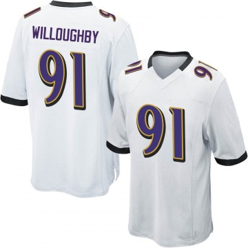Youth Nike Baltimore Ravens Marcus Willoughby White Jersey - Game
