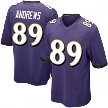 Youth Nike Baltimore Ravens Mark Andrews Purple Team Color Jersey - Game
