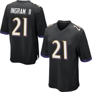 Youth Nike Baltimore Ravens Mark Ingram Black Jersey - Game