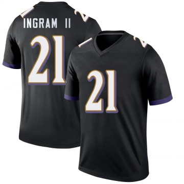 Youth Nike Baltimore Ravens Mark Ingram Black Jersey - Legend