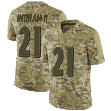 Youth Nike Baltimore Ravens Mark Ingram Camo 2018 Salute to Service Jersey - Limited