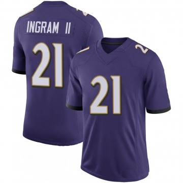 Youth Nike Baltimore Ravens Mark Ingram Purple 100th Vapor Jersey - Limited