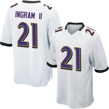 Youth Nike Baltimore Ravens Mark Ingram White Jersey - Game