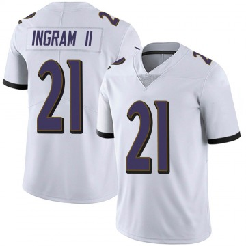 Youth Nike Baltimore Ravens Mark Ingram White Vapor Untouchable Jersey - Limited