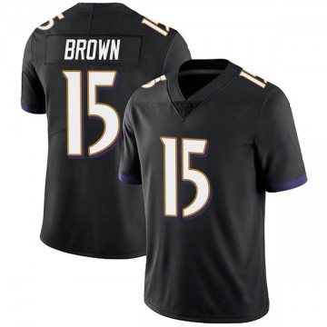 Youth Nike Baltimore Ravens Marquise Brown Black Alternate Vapor Untouchable Jersey - Limited