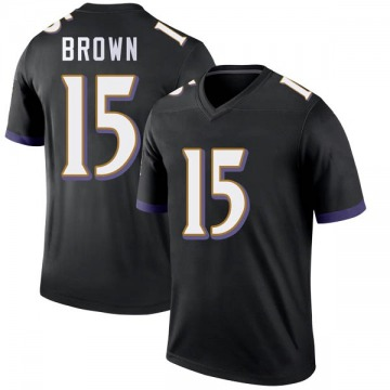 Youth Nike Baltimore Ravens Marquise Brown Black Jersey - Legend