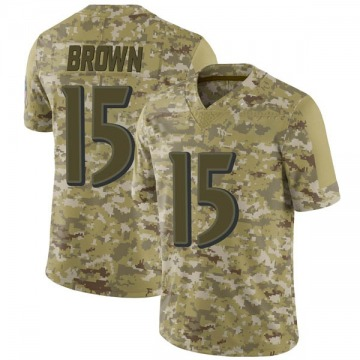 Youth Nike Baltimore Ravens Marquise Brown Brown Camo 2018 Salute to Service Jersey - Limited