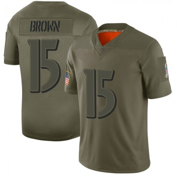 Youth Nike Baltimore Ravens Marquise Brown Brown Camo 2019 Salute to Service Jersey - Limited