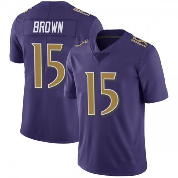 Youth Nike Baltimore Ravens Marquise Brown Purple Color Rush Vapor Untouchable Jersey - Limited