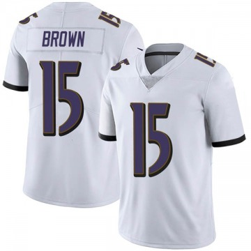 Youth Nike Baltimore Ravens Marquise Brown White Vapor Untouchable Jersey - Limited