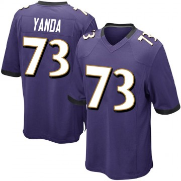 Youth Nike Baltimore Ravens Marshal Yanda Purple Team Color Jersey - Game