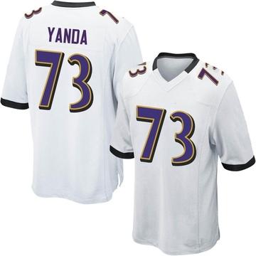 Youth Nike Baltimore Ravens Marshal Yanda White Jersey - Game