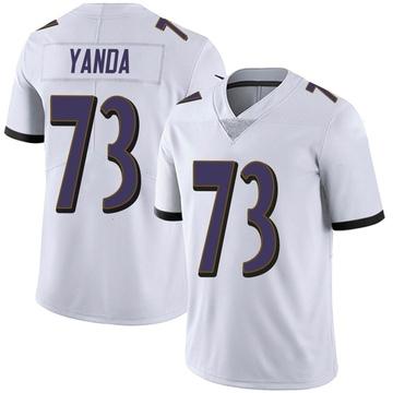 Youth Nike Baltimore Ravens Marshal Yanda White Vapor Untouchable Jersey - Limited