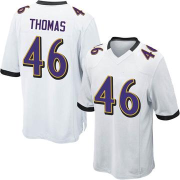 check out 55c88 7c094 Youth Nike Baltimore Ravens Matthew Thomas White Jersey - Game