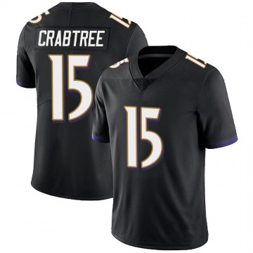 Youth Nike Baltimore Ravens Michael Crabtree Black Alternate Vapor Untouchable Jersey - Limited