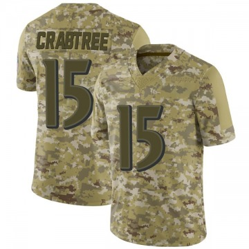 Youth Nike Baltimore Ravens Michael Crabtree Camo 2018 Salute to Service Jersey - Limited