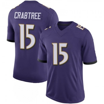 Youth Nike Baltimore Ravens Michael Crabtree Purple 100th Vapor Jersey - Limited