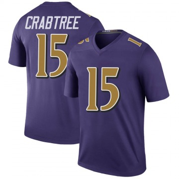 Youth Nike Baltimore Ravens Michael Crabtree Purple Color Rush Jersey - Legend