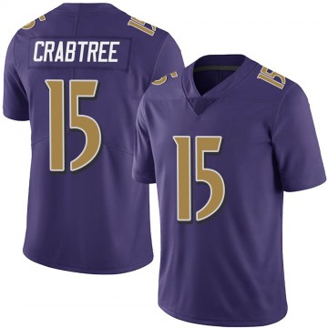 Youth Nike Baltimore Ravens Michael Crabtree Purple Team Color Vapor Untouchable Jersey - Limited