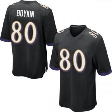 Youth Nike Baltimore Ravens Miles Boykin Black Jersey - Game
