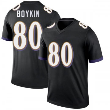 Youth Nike Baltimore Ravens Miles Boykin Black Jersey - Legend