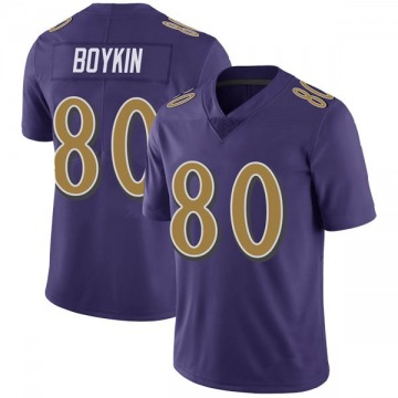 Youth Nike Baltimore Ravens Miles Boykin Purple Color Rush Vapor Untouchable Jersey - Limited