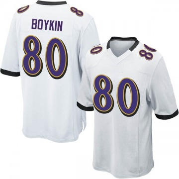 Youth Nike Baltimore Ravens Miles Boykin White Jersey - Game