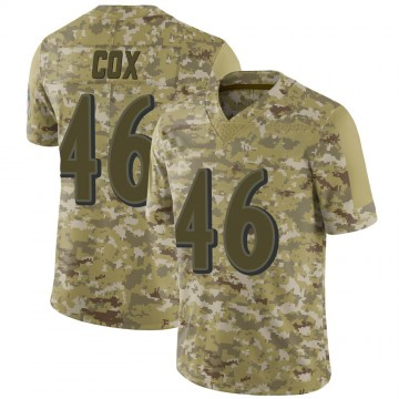 Youth Nike Baltimore Ravens Morgan Cox Camo 2018 Salute to Service Jersey - Limited