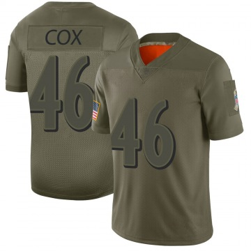 Youth Nike Baltimore Ravens Morgan Cox Camo 2019 Salute to Service Jersey - Limited