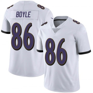 Youth Nike Baltimore Ravens Nick Boyle White Vapor Untouchable Jersey - Limited