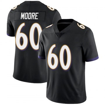 Youth Nike Baltimore Ravens Nick Moore Black Alternate Vapor Untouchable Jersey - Limited