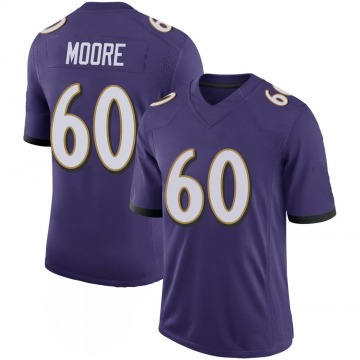 Youth Nike Baltimore Ravens Nick Moore Purple 100th Vapor Jersey - Limited