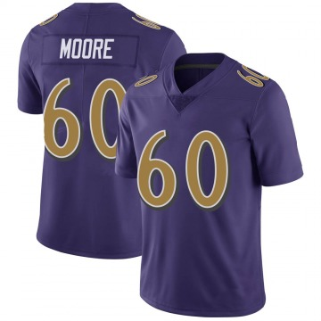 Youth Nike Baltimore Ravens Nick Moore Purple Color Rush Vapor Untouchable Jersey - Limited