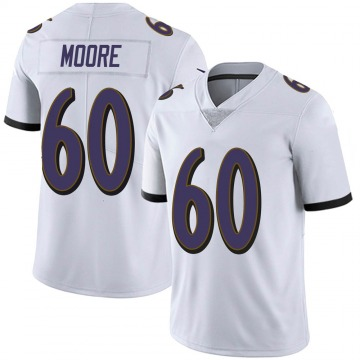 Youth Nike Baltimore Ravens Nick Moore White Vapor Untouchable Jersey - Limited