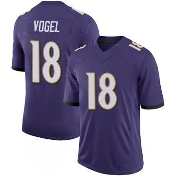 Youth Nike Baltimore Ravens Nick Vogel Purple 100th Vapor Jersey - Limited