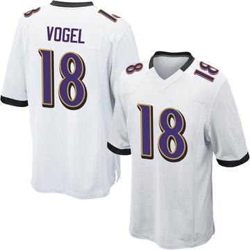Youth Nike Baltimore Ravens Nick Vogel White Jersey - Game