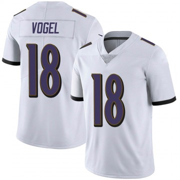 Youth Nike Baltimore Ravens Nick Vogel White Vapor Untouchable Jersey - Limited