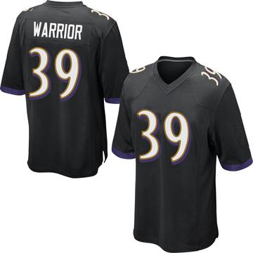 Youth Nike Baltimore Ravens Nigel Warrior Black Jersey - Game