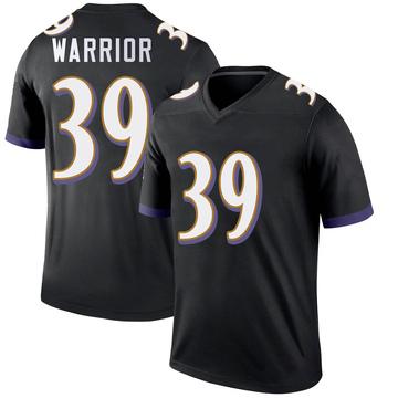 Youth Nike Baltimore Ravens Nigel Warrior Black Jersey - Legend