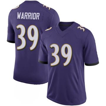 Youth Nike Baltimore Ravens Nigel Warrior Purple 100th Vapor Jersey - Limited