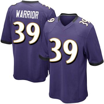 Youth Nike Baltimore Ravens Nigel Warrior Purple Team Color Jersey - Game