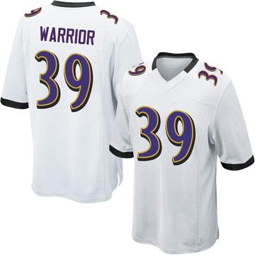 Youth Nike Baltimore Ravens Nigel Warrior White Jersey - Game