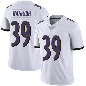 Youth Nike Baltimore Ravens Nigel Warrior White Vapor Untouchable Jersey - Limited