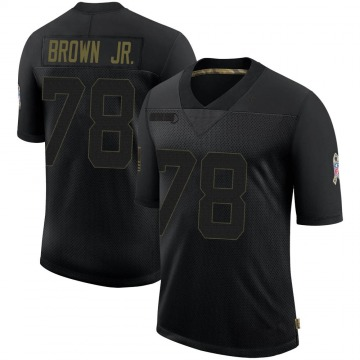 Youth Nike Baltimore Ravens Orlando Brown Jr. Black 2020 Salute To Service Jersey - Limited