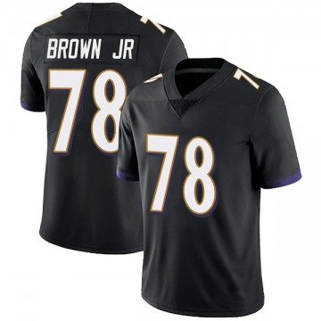 Youth Nike Baltimore Ravens Orlando Brown Jr. Black Alternate Vapor Untouchable Jersey - Limited