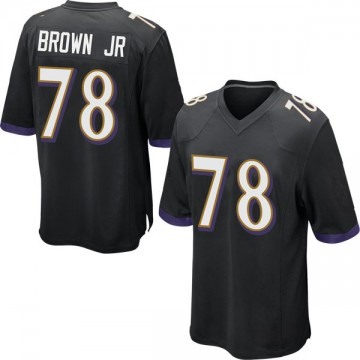 Youth Nike Baltimore Ravens Orlando Brown Jr. Black Jersey - Game