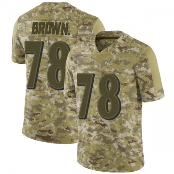 Youth Nike Baltimore Ravens Orlando Brown Jr. Brown Camo 2018 Salute to Service Jersey - Limited