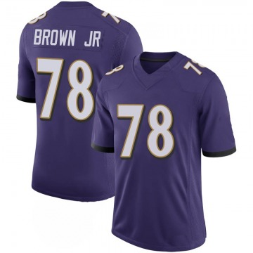 Youth Nike Baltimore Ravens Orlando Brown Jr. Purple 100th Vapor Jersey - Limited