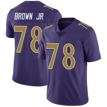 Youth Nike Baltimore Ravens Orlando Brown Jr. Purple Color Rush Vapor Untouchable Jersey - Limited